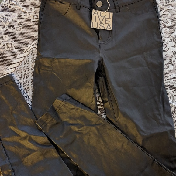 NWT Faux Leather jeans